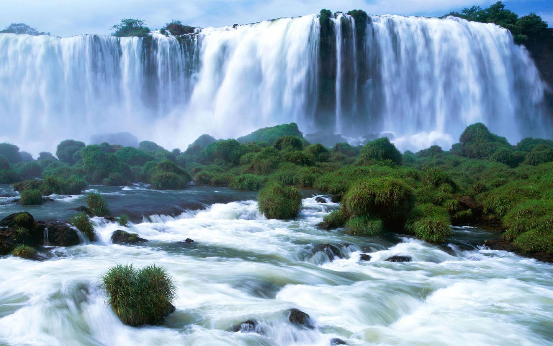Красивый водопад обои фото водопад