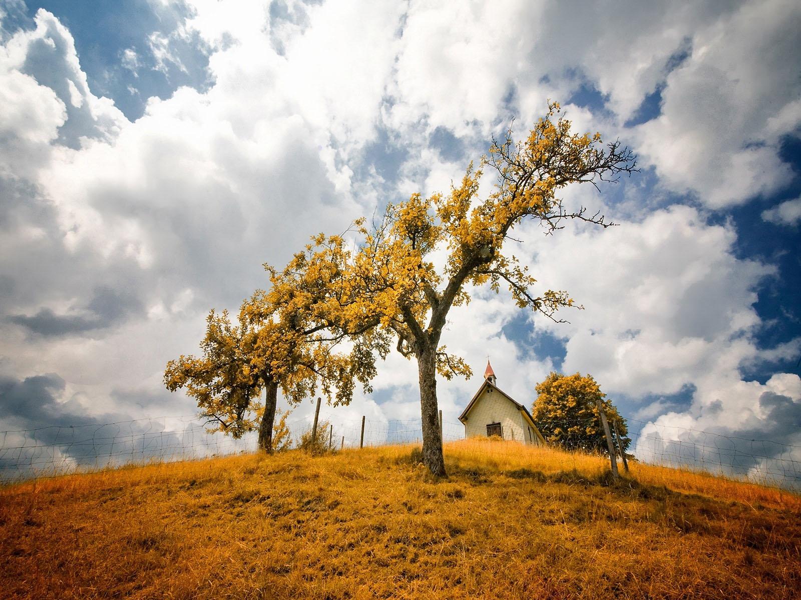 Осень в деревне обои, скачать картинки на рабочий стол Дом ...