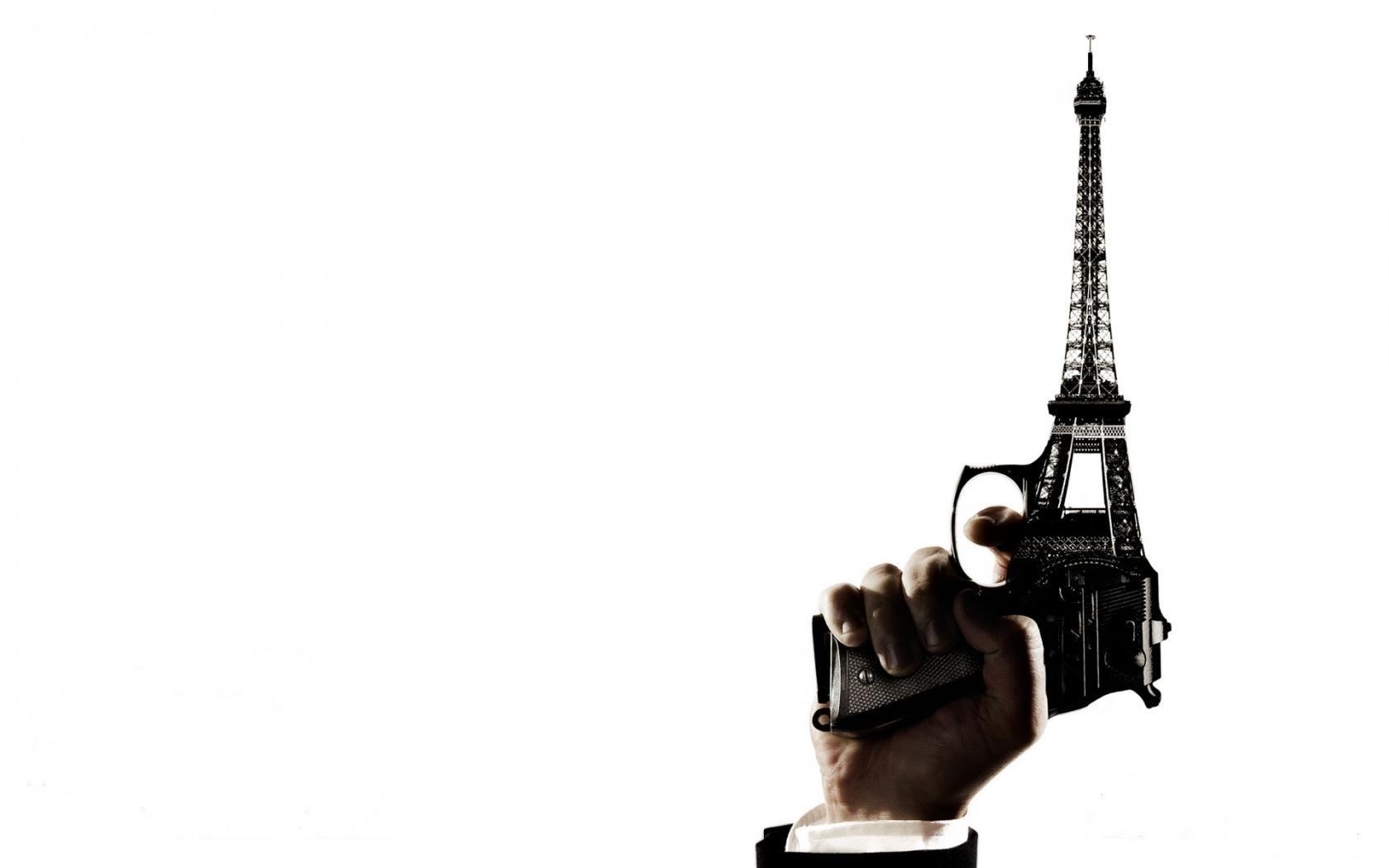 Прикольные пистолет эйфелева башня