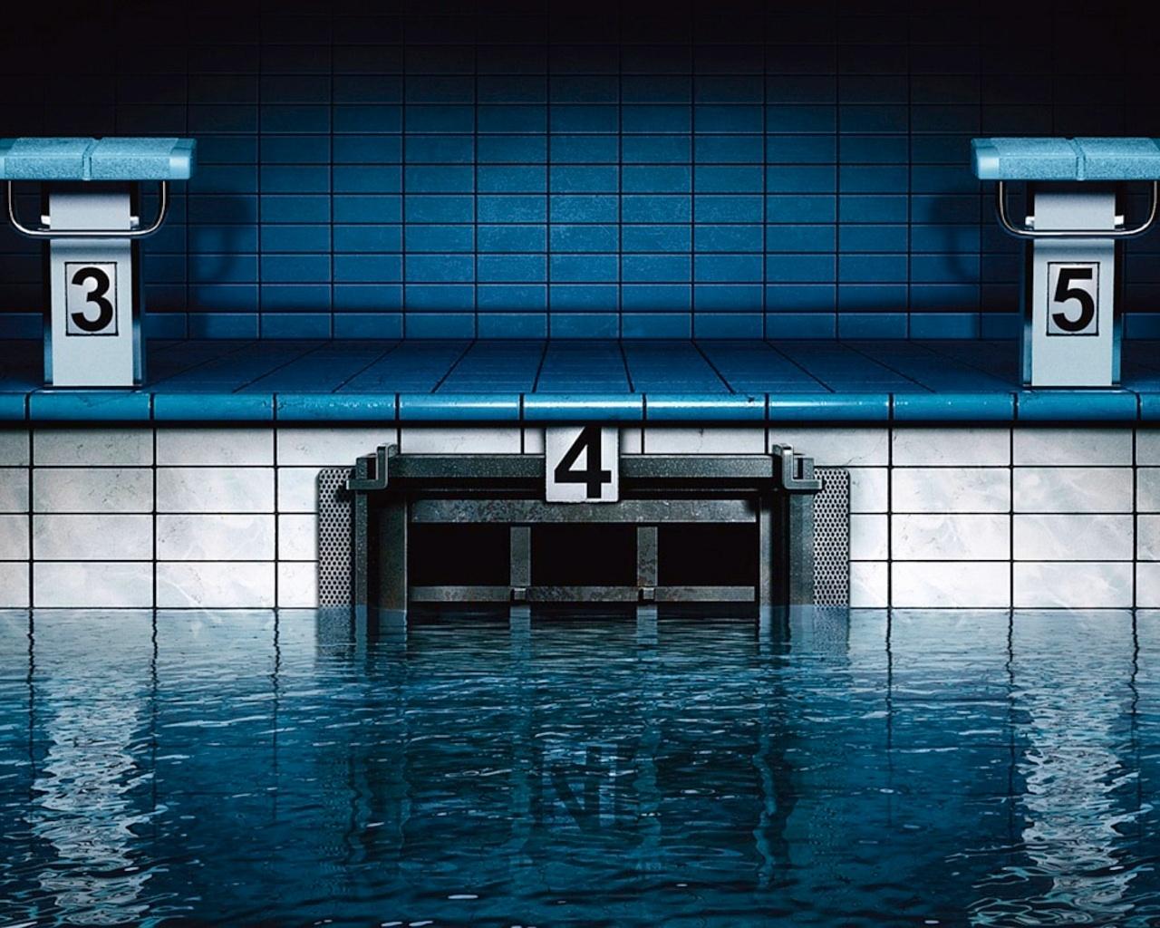 Тренировочный бассейн обои фото