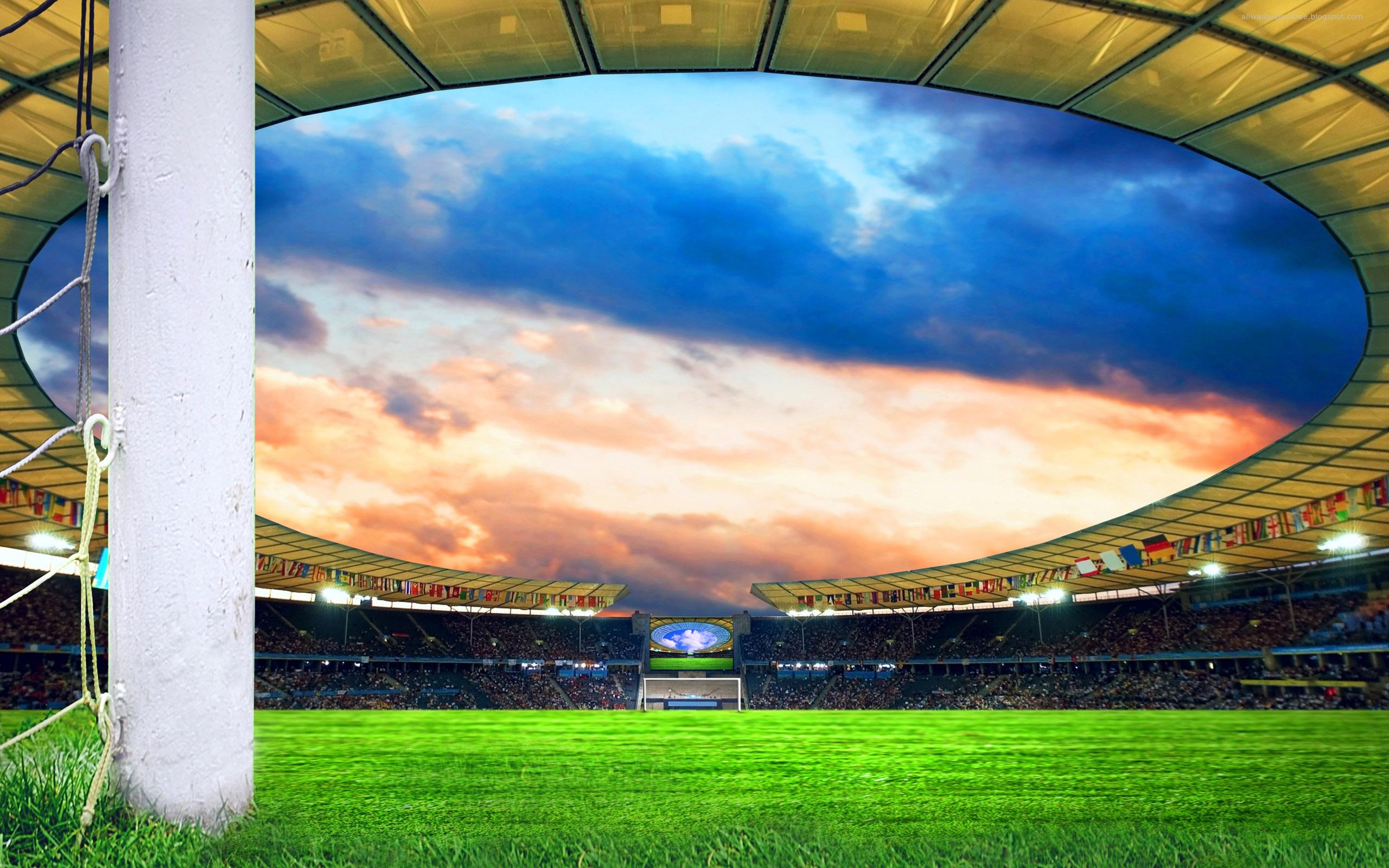 Самый большой футбольный стадион обои