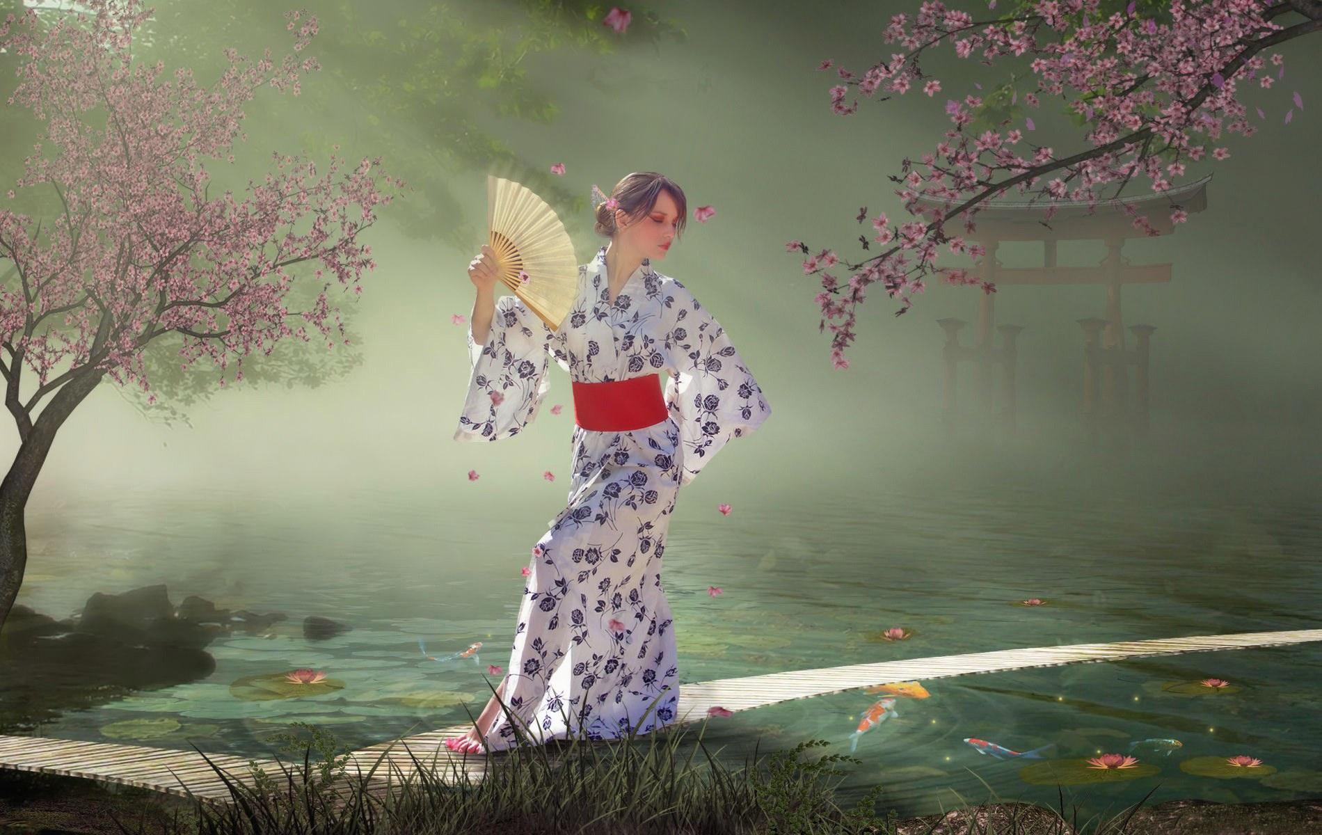 Японская гейша обои фото японская