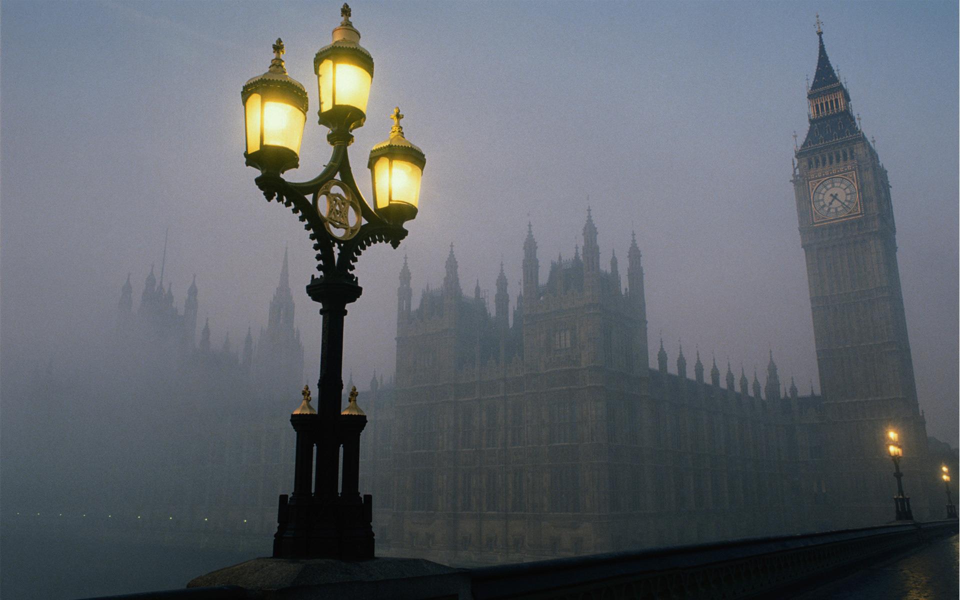 Лондон утро биг бен часы обои фото