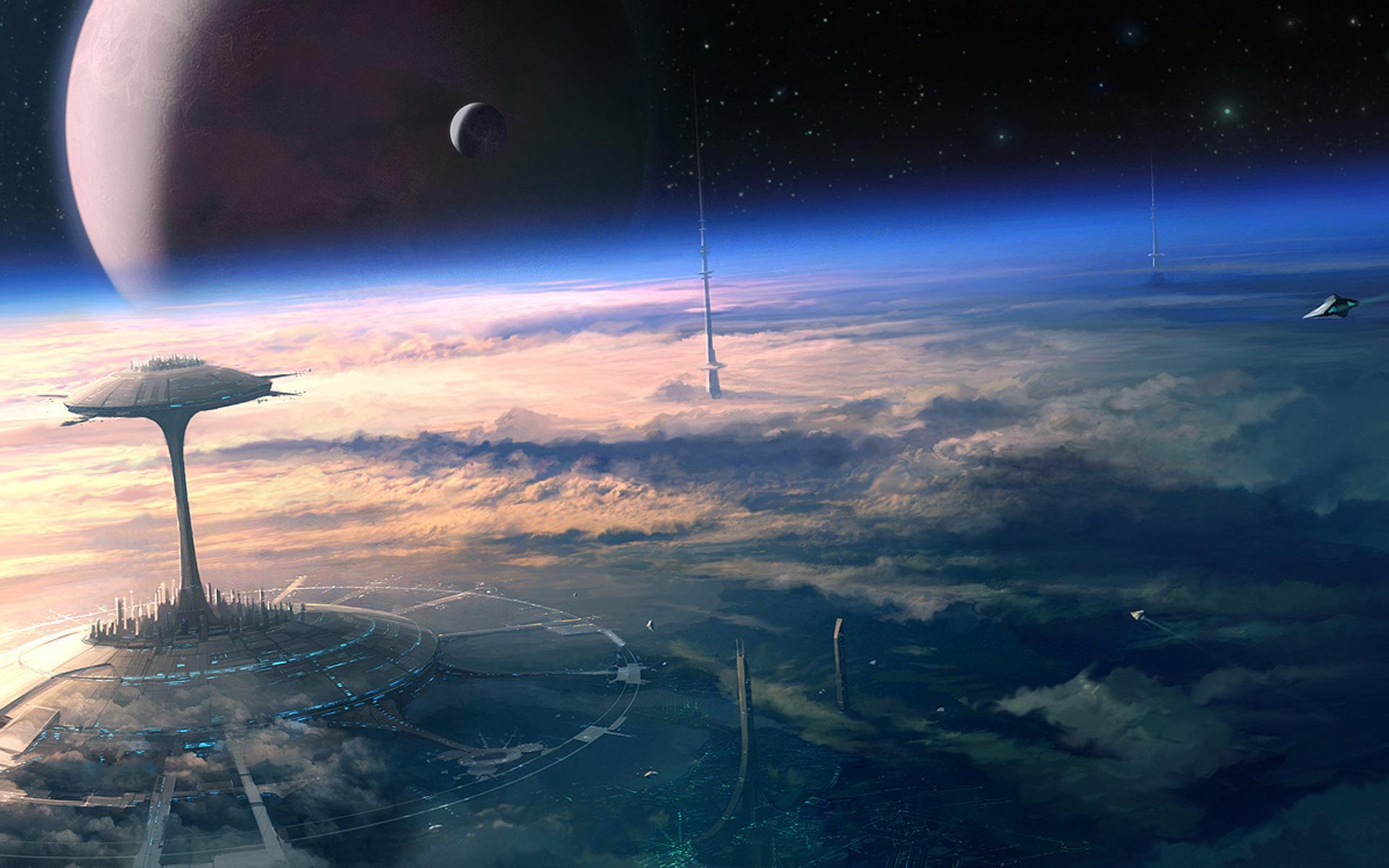 Будущее обои фото звезды планета