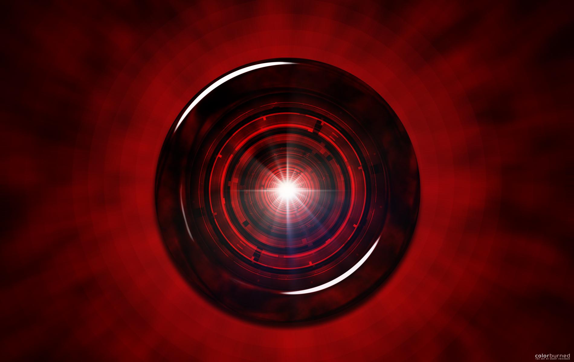 Глаз робота обои, фото красный глаз