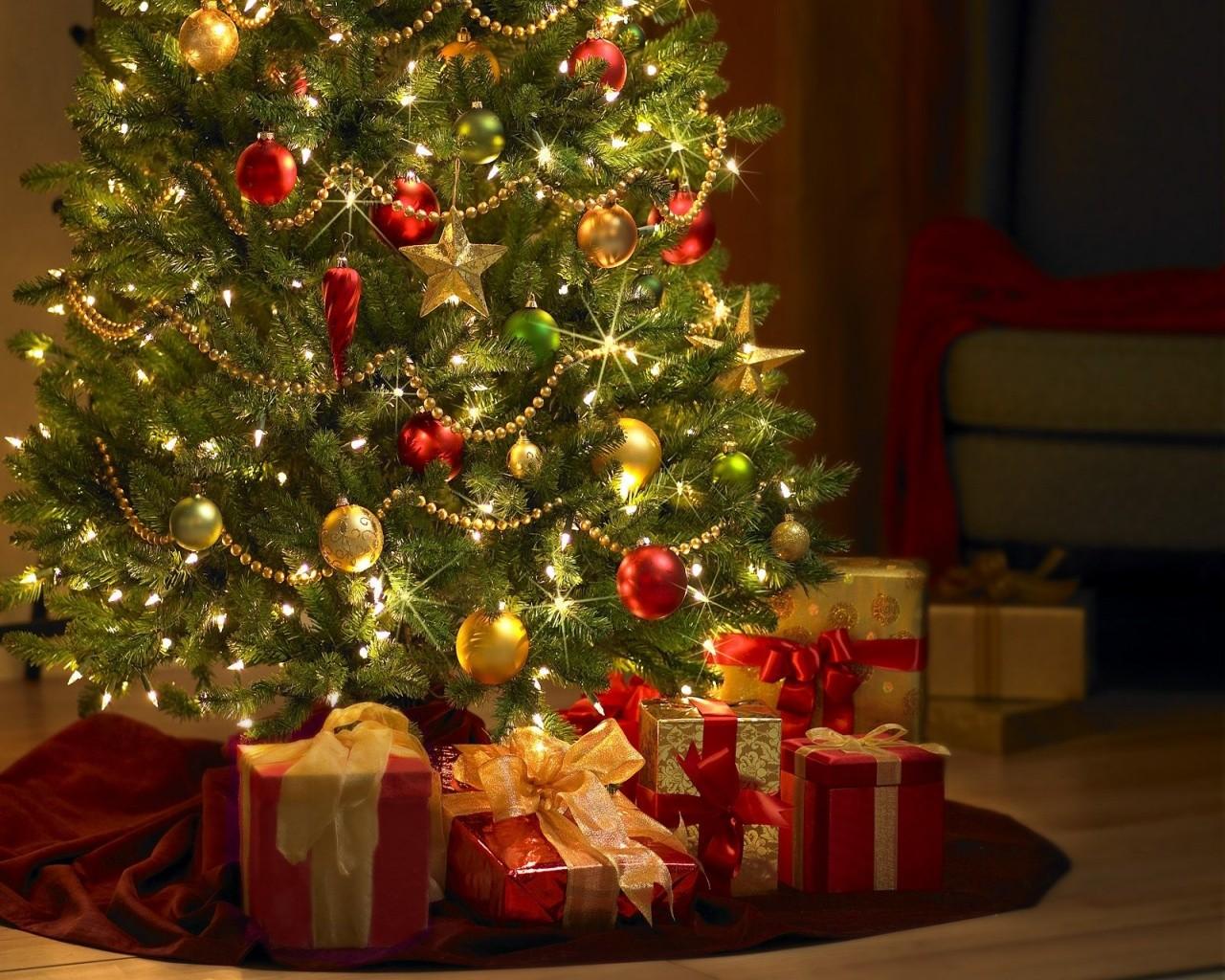 Подарки на новый год обои фото
